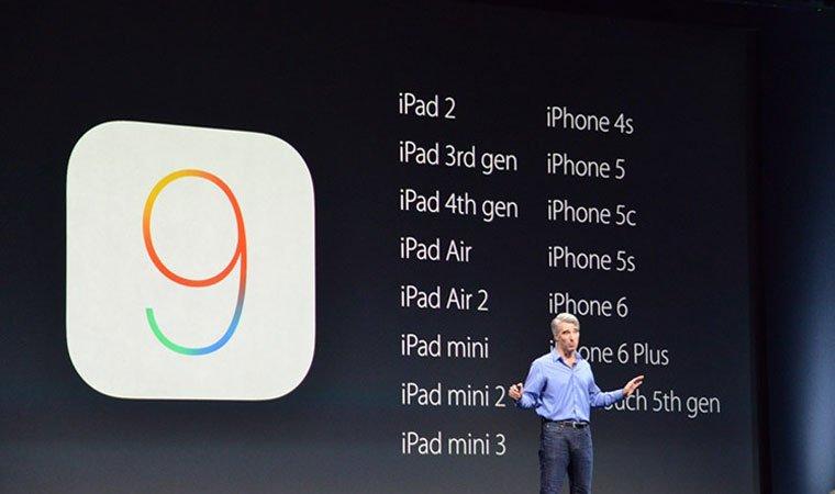 اپل از iOS 9 رونمایی کرد