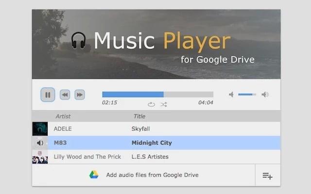 پخش موسیقی در گوگل درایو